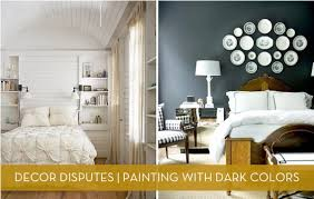 paint colors for dark roomsDecor Disputes Does dark paint make a room feel smaller  Curbly