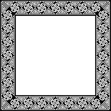 illustration of a blank ornate frame border free stock photo black png b54 black