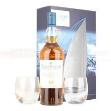talisker 10 yo with 2 gles island single malt scotch whisky 70cl gift set 45 8