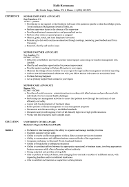 Family Advocate Resume Sample Senior Advocate Resume Samples Velvet Jobs 18