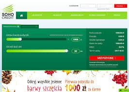 Soho Credit darmowa pożyczka RRSO 0%. Poznaj opinie