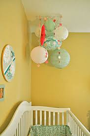 diy paper decor chandelier for baby room