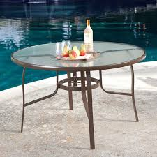 glass top patio dining table with regard to 48 inch round outdoor umbrella plans 4