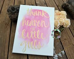 thank heaven for little girls watercolor canvas painting quote with 2017 girls canvas wall art  on little girl canvas wall art with displaying photos of girls canvas wall art view 3 of 20 photos