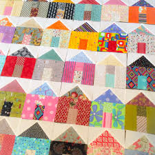 House Quilt Blocks | A Quilting Life - a quilt blog & Pictured is a lovely group of houses constructed by Michele at Island Life  Quilts. Adamdwight.com