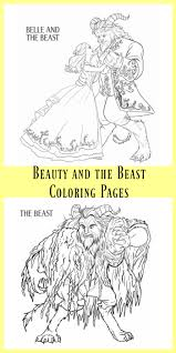 Small Picture Beauty and the Beast Coloring Pages The Kids Fun Review
