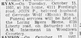 John P Ryan (Husband of Gertrude Wolf?) - Newspapers.com