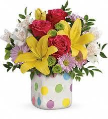 teleflora s delightful dots bouquet