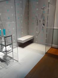 Contemporary Bathroom Decoration Using Various Walk In Shower With Seat :  Cool Small Bathroom Decoration Using