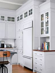 Captivating Glass Upper Cabinets Photo