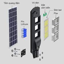 Đèn Đường Năng Lượng Mặt Trời 90W (Liền Thể) - Đèn ngoài trời Nhà sản xuất  Phương Nam SOLAR SOLUTION