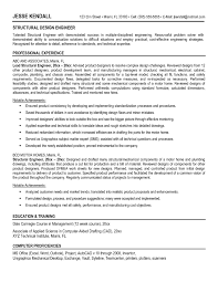 Mechanical Structural Engineer Resume Free Resume Example And