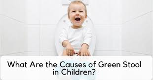 causes of green stool in children