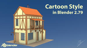 creation of a cartoon style render in blender 2 79 meval building