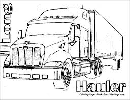 latest semi truck coloring pages trucks drawings beautiful a peterbilt 386 32708 busydaychef