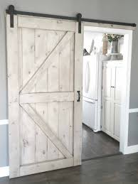 gray wash sliding barn door 2 panel z style