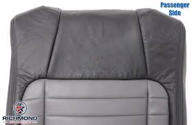 2002 ford f 150 harley davidson perforated leather seat cover passenger lean back 2 tone black gray