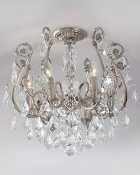 crystorama mini chandelier flush mount light fixture