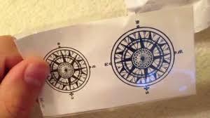 посылка из китая 11 татуировка компас
