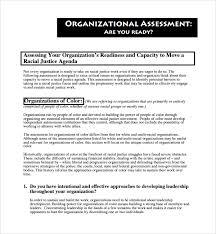 Organizational Assessment Template Stunning 44 Organizational Assessment Templates Sample Templates