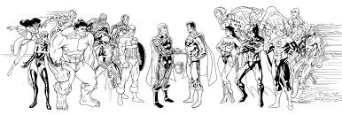 Small Picture Justice league coloring pages with avengers ColoringStar