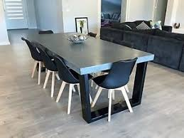 concrete dining table. Image Is Loading 2-4m-8-seater-concrete-dining-table-indoor- Concrete Dining Table