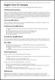 Resume For English Lecturer English Resume Format Teacher Format