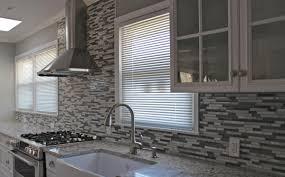kitchen glass mosaic backsplash. Stunning Gray Kitchen Backsplash With Glass Door Cabinet Mosaic