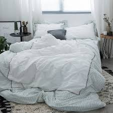 high thread count duvet cover. Modren Count Washed Cotton Bed Linen High Thread Count Satin Bedding Sets White  Bedspreads Embroidery Duvet Cover Set Intended High Thread Count Duvet Cover G