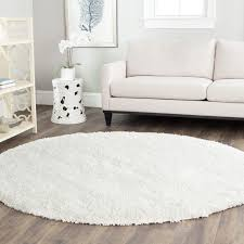 top 57 marvelous round white rug best decor things high pile soft gold plush area rugs black and thick gy large carpet insight