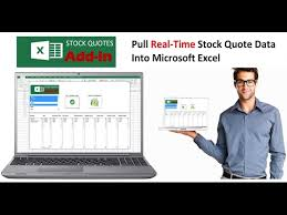 Real Time Stock Quotes New Excel Stock Quote Addin Pull Real Time Stock Quotes Into Excel