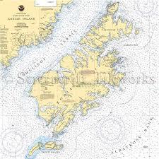 Alaska Kodiak Island Nautical Chart Decor