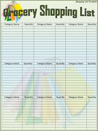 42 Fresh Grocery List Organizer Template – Template Free
