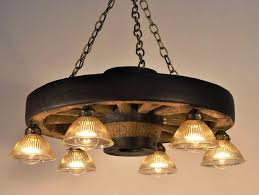 modern wagon wheel chandelier