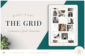 Instagram Design The Grid Instagram Layout Template Design Cuts
