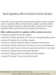 Regulatory Affairs Resume Sample Extraordinary Top 40 Regulatory Affairs Assistant Resume Samples