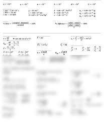 4u physics equations formula sheet pdf