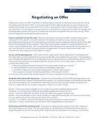 job offer salary negotiating a job offer