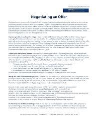 Salary Negotiation Email Negotiating A Job Offer