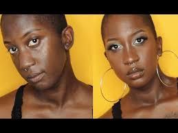 bad airbrush makeup tutorial on dark skin