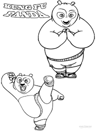 Small Picture Coloring Pages Of Kung Fu Panda adult