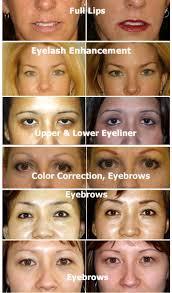 permanent makeup list
