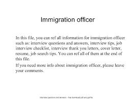 Immigration Officer Sample Resume Amazing Cover Letter For Immigration Officer Guide Purpose The Of Your To