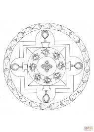 Tibetan Mandala Coloring Page