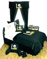 bedroom set sets comforters team black denim full size steelers comforter bedding bedding set
