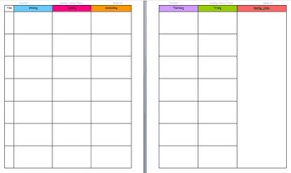 Free Printable Lesson Plan Template Lesson Plan Template For Binders Free