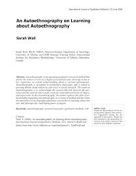 autoethnography example essays autoethnography example essays  an autoethnography on learning about autoethnography autoethnography example essays