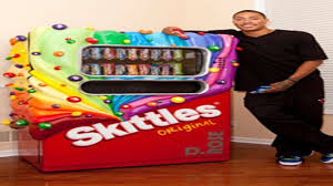Skittle Vending Machine Extraordinary Skittles Makes Derrick Rose A Custom Candy Machine