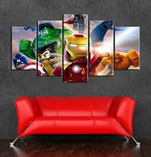 Superheroes Bedroom Online Get Cheap Marvel Superheroes Print Wall Aliexpresscom