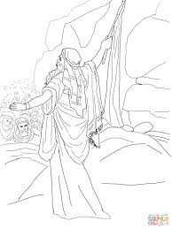 Small Picture Moses Strikes the Rock and Water Comes out coloring page Free